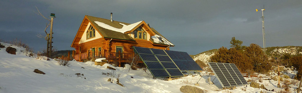 Ewing off-grid log home