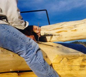 Rex Ewing scribing logs